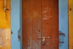 Gul vägg 6 Fotografering för Bildbyråer