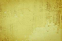 Gul väggbakgrund Royaltyfri Foto