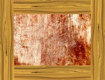 Gul wood ram Arkivfoton