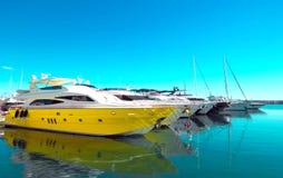 Gul yachttappning Royaltyfri Fotografi