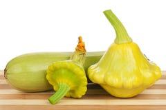 gul zucchini för squash Arkivfoton