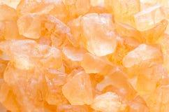 gula bakgrundskristaller Royaltyfri Fotografi