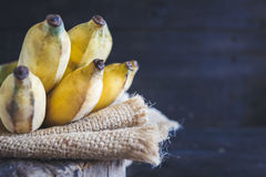 Gula bananer Arkivfoton