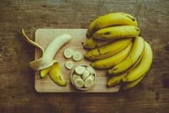 Gula bananer Arkivbilder