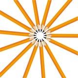 Gula blyertspennor för fjorton Vektor Illustrationer