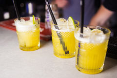 Gula coctailar för alkoholist Royaltyfria Foton