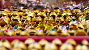 Gula guld- cirklar Arkivbilder