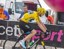 Gula Jersey på Mont Ventoux - Tour de France 2013 Fotografering för Bildbyråer