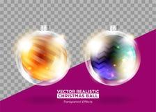 Gula kottar på vitbakgrund VektorXmas-struntsak Royaltyfri Illustrationer