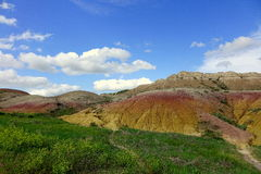 Gula kullar, Badlandsnationalpark, SD fotografering för bildbyråer