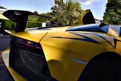 Gula Lamborghini Huracan Royaltyfri Fotografi