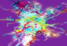 Gula linjer för färgrik guld- violetblåttregnbåge, pastellfärgade toner Arkivfoton