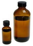 gula liten medicinflaska Royaltyfria Foton