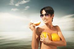 Gula melon Fotografering för Bildbyråer