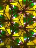Gula och gröna trianglar Arkivfoton