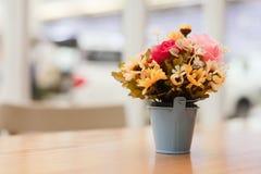 Gula och rosa blommor Arkivbild