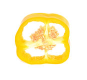 Gula söta peppar med vit bakgrund royaltyfri foto
