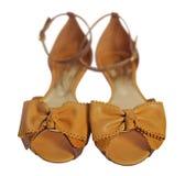 Gula sandaler royaltyfri fotografi