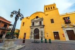 Gula Santo Domingo Church Royaltyfria Foton