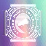 Gula sidorna som annonserar Pastelltappningdesign royaltyfri illustrationer