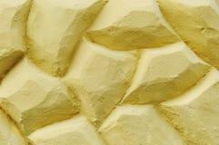 Gula stens vägg royaltyfri bild