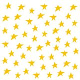 Gula stjärnor för handattraktion Garnering för beröm, för falla för konfettier abstrakt för årsdag eller händelse, festivaldekor  stock illustrationer