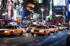 Gula taxiar Royaltyfria Bilder