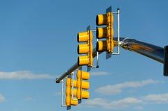 Gula trafikljus Royaltyfri Fotografi