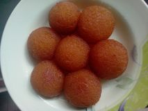 Gulab Jaman - Desi甜点 库存图片