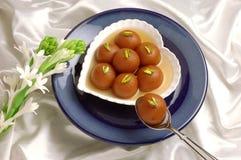 Gulab Jaman in Heart Dish royalty free stock photography