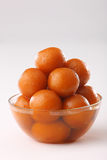 Gulab jamun in a bowl stock images
