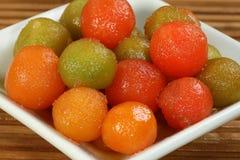 Gulab jamun, coloured Royalty Free Stock Image