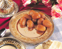 Gulab Jamun in Golden try Stock Photography