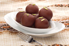Black Gulab Jamun. A sweet and delicious favourite dessert Royalty Free Stock Photo