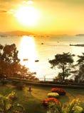 Gulangyu scenery. Sunset scenery of Gulangyu island Stock Photos