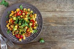 Gulasz z chickpeas i warzywami Obrazy Royalty Free