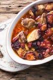 Gulaszu mięso w śliwkowym kumberlandzie Zdjęcie Royalty Free