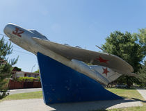 Gulayev尼古拉Dmitrievich,战斗机飞行员,在57台敌机下的射击 阿纳帕 俄国 Krasnodarskiy Kray 04 06 2017年 免版税图库摄影