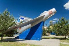 Gulayev Nikolai Dmitrievich, kämpepilot, för skott fientligt flygplan 57 ner Anapa Ryssland Krasnodarskiy Kray 04 06 2017 arkivfoto