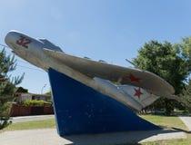 Gulayev Nikolai Dmitrievich, kämpepilot, för skott fientligt flygplan 57 ner Anapa Ryssland Krasnodarskiy Kray 04 06 2017 royaltyfri fotografi