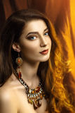 Guldålderlyxkvinna Royaltyfri Fotografi