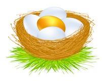 guld- ägg Arkivfoton