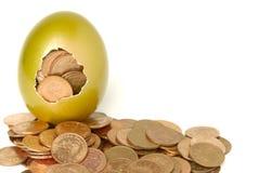 guld- ägg Arkivfoto