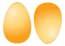 guld- ägg vektor illustrationer