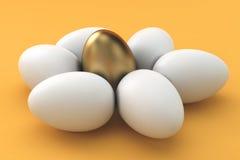 Guld- ägg, finansbegrepp Royaltyfri Bild