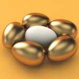 Guld- ägg, finansbegrepp Arkivbild