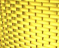 Guld- ändlös tegelstenvägg Arkivfoton