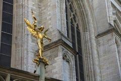 Guld- ängel Arkivbild