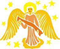 guld- ängel royaltyfri illustrationer