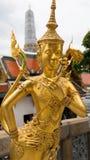 Guld- ängelstaty Thailand för härlig framsida Arkivfoto